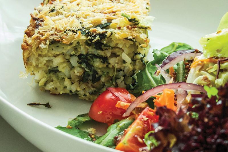 Spinach & Leek Torta Di Riso