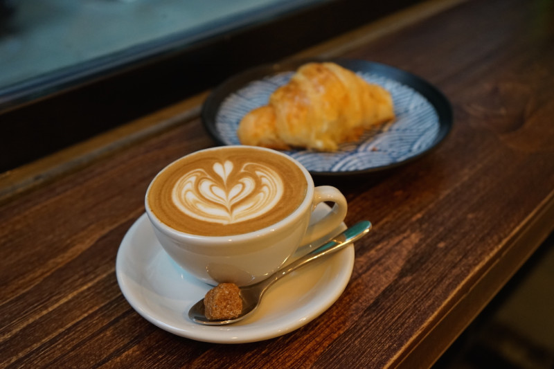 Get a Free Coffee with Food at Why 50
