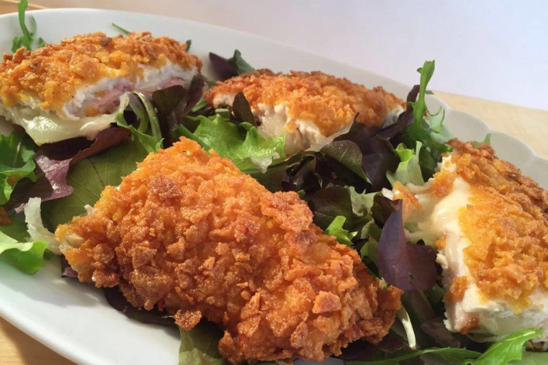 Crunchy Stuffed Chicken: Recipe