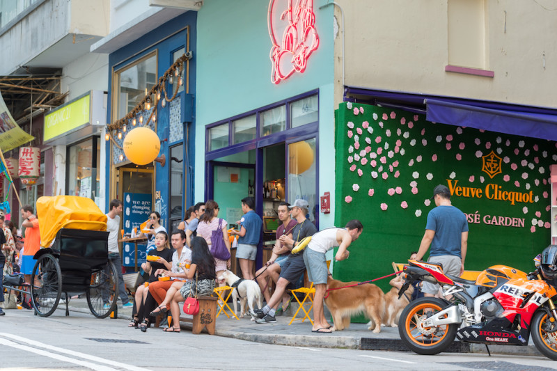 #ClicquotJourney Street Party in Sai Ying Pun