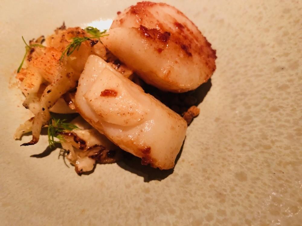 Hokkaido scallops Statement Restaurant Hong Kong Tai Kwun