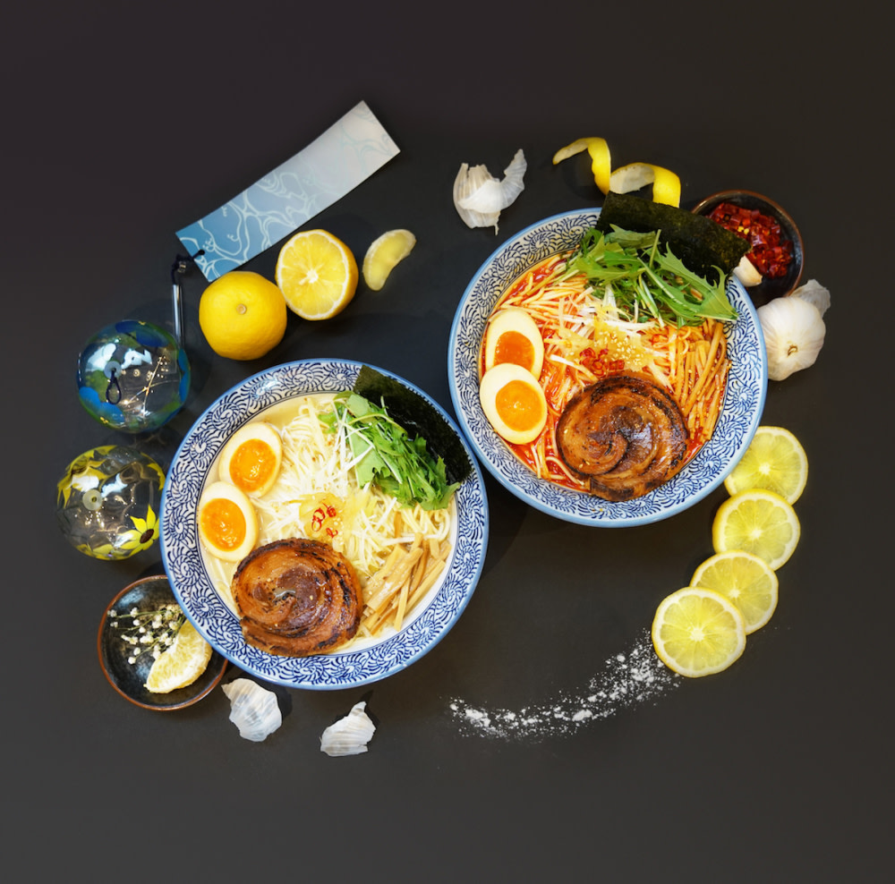 Yuzu ramen and spicy yuzu ramen