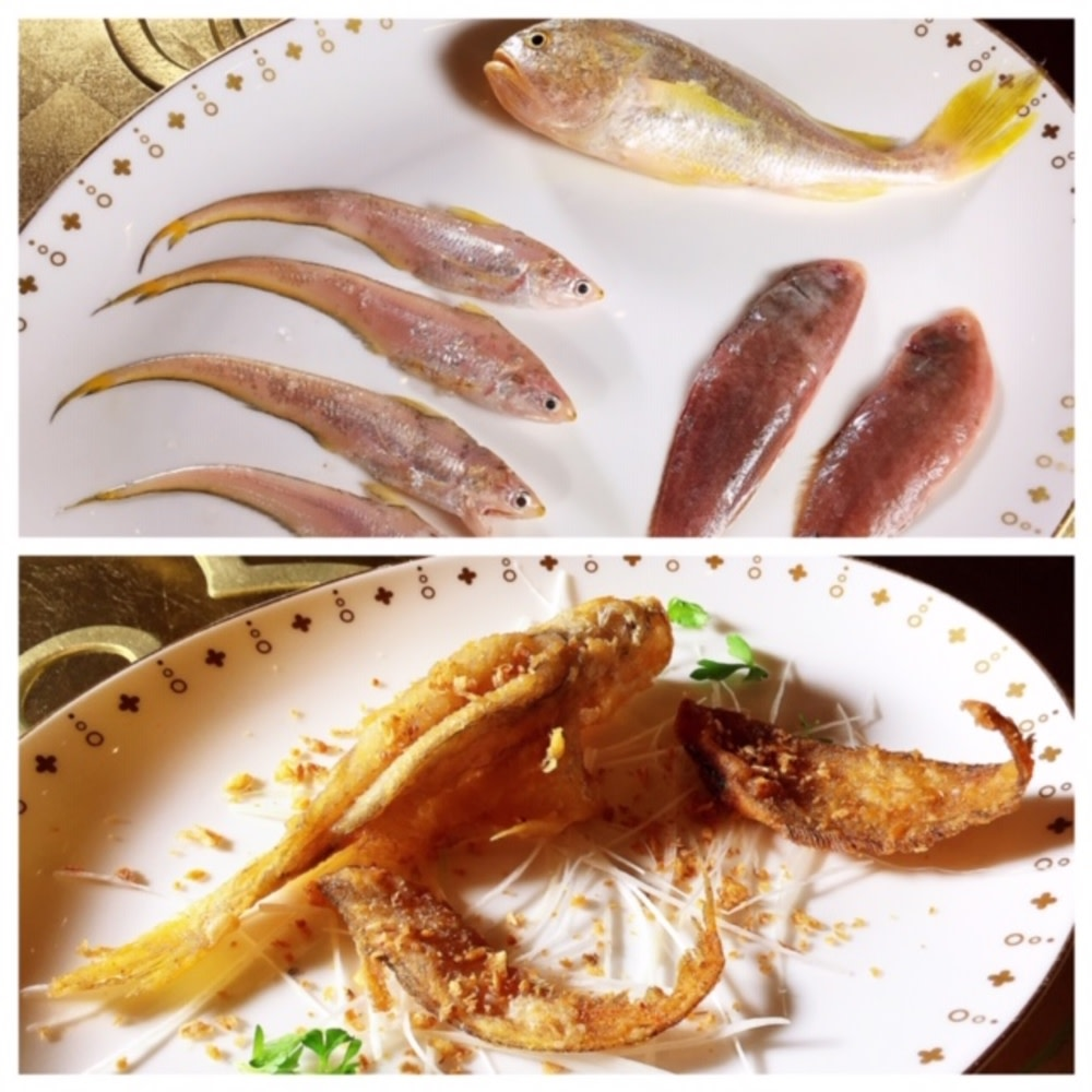 Local fish fresh from Macau's fish market (including Macau sole) Wynn Palace Wing Lei