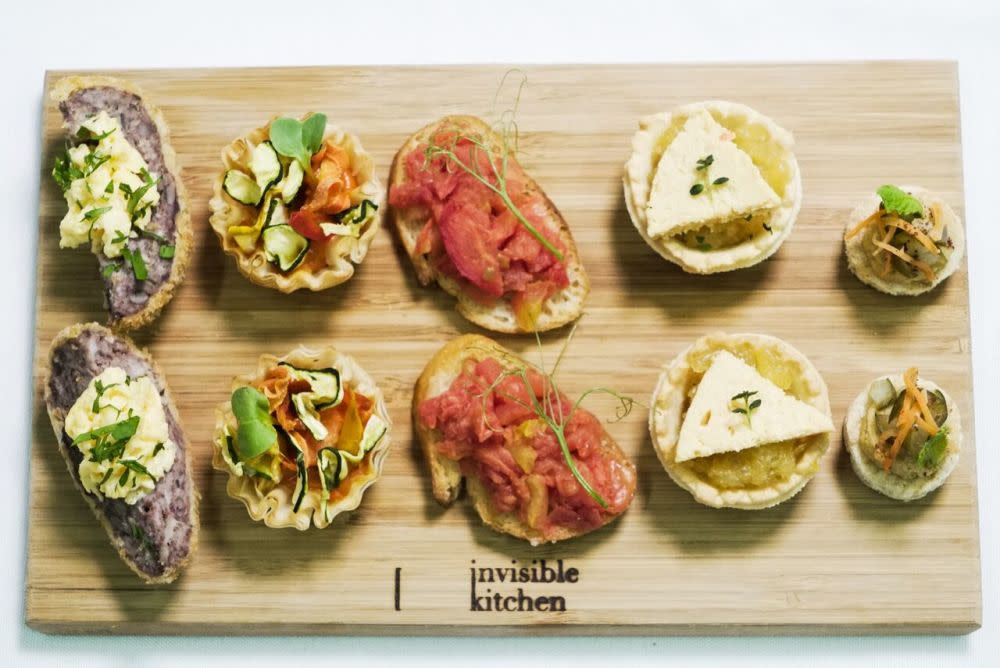 Invisible Kitchen plant-based canapés