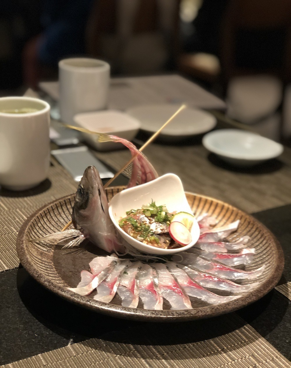 Seki aji (horse mackerel) sashimi