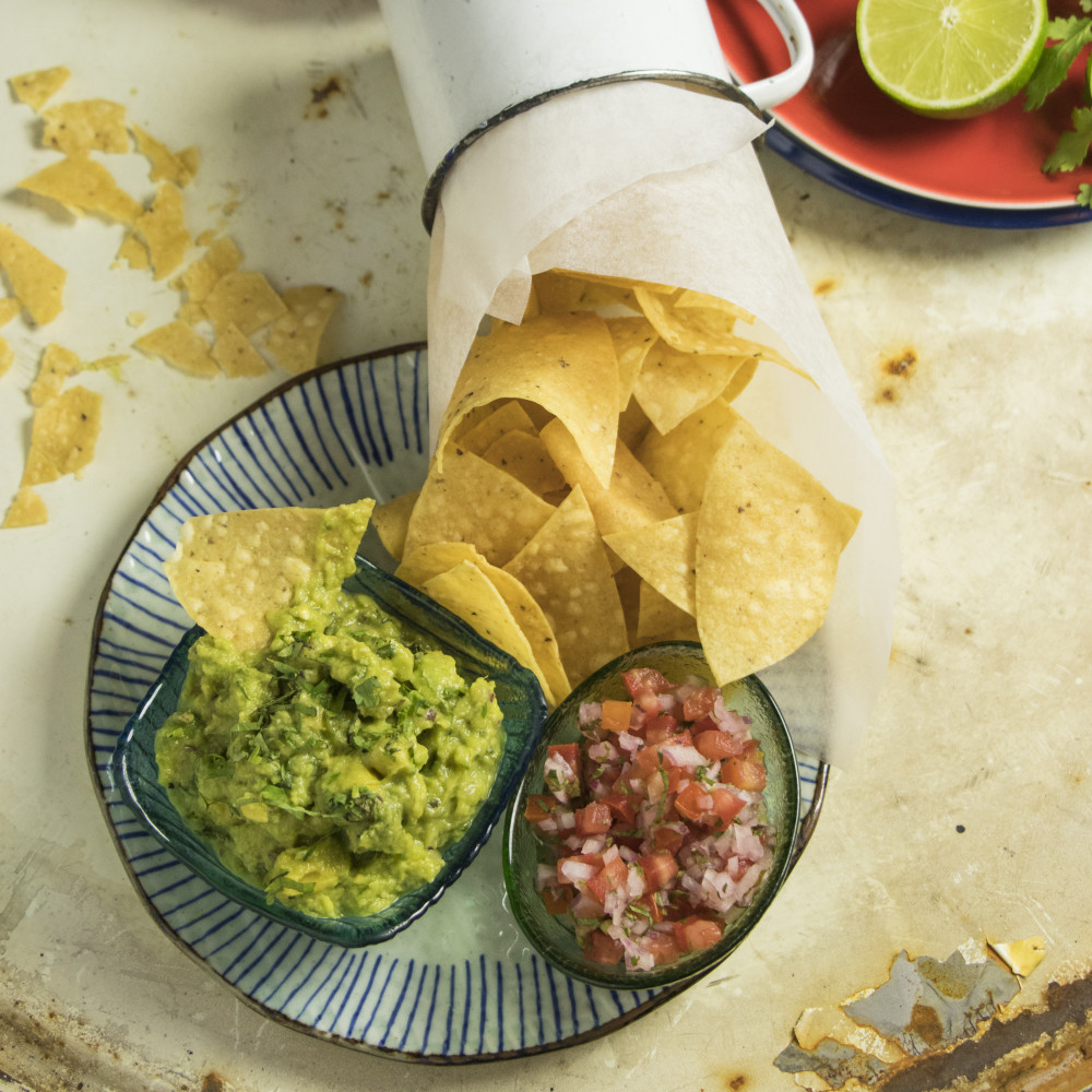 Guacamole and salsa from Brickhouse