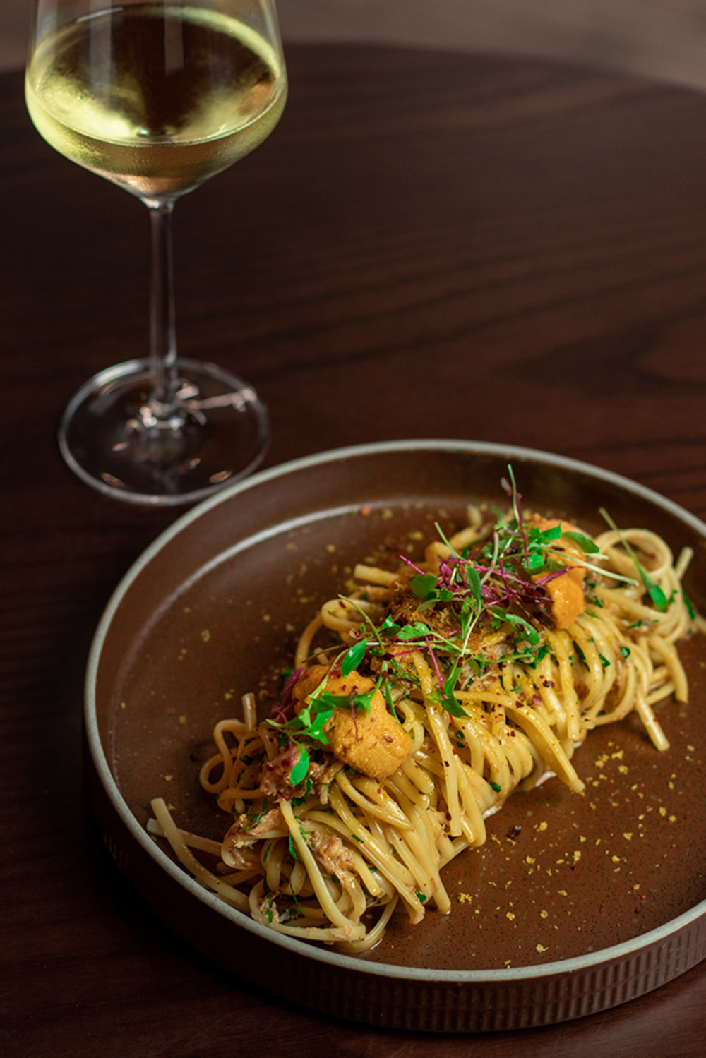 1) Spanner crab linguine from Mercedes me Store