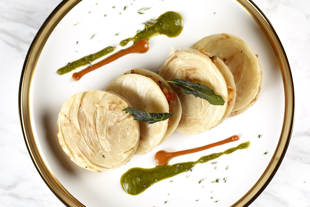 Paneer bhurji quesadilla