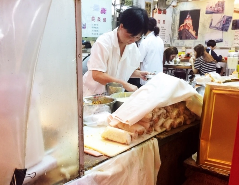 Sticky rice and dough stick rolls at Shanghai Hong Kong Noodle Shop