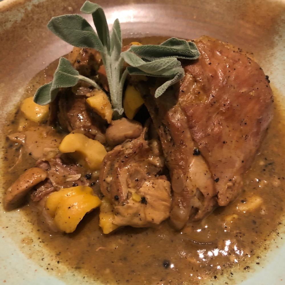 Truffle goat stew