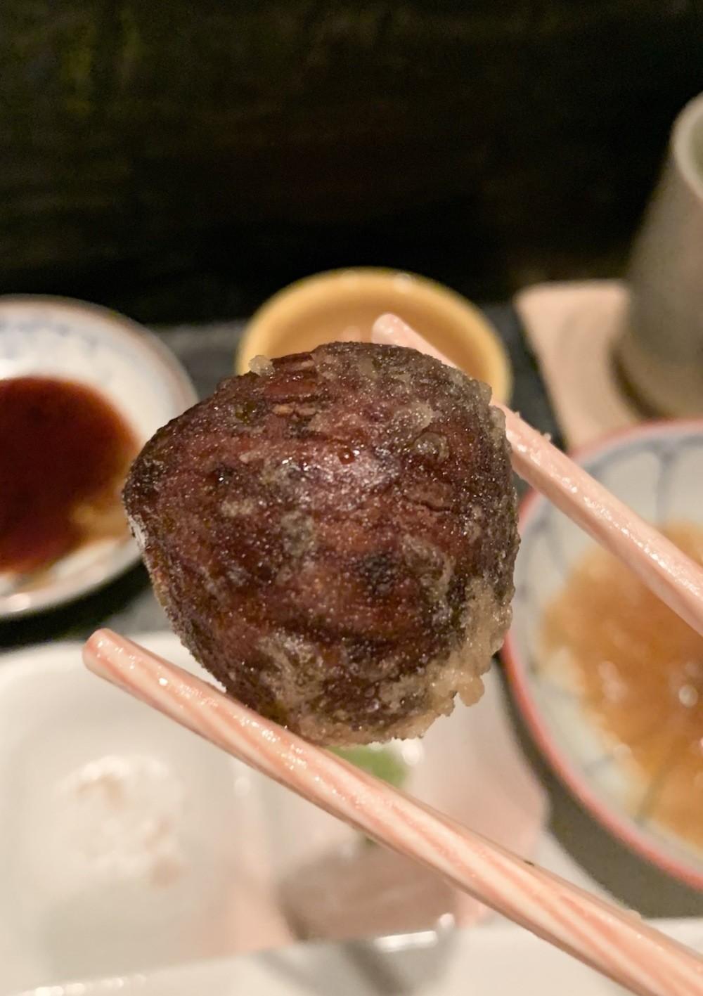 Sugar-coated tempura chestnut