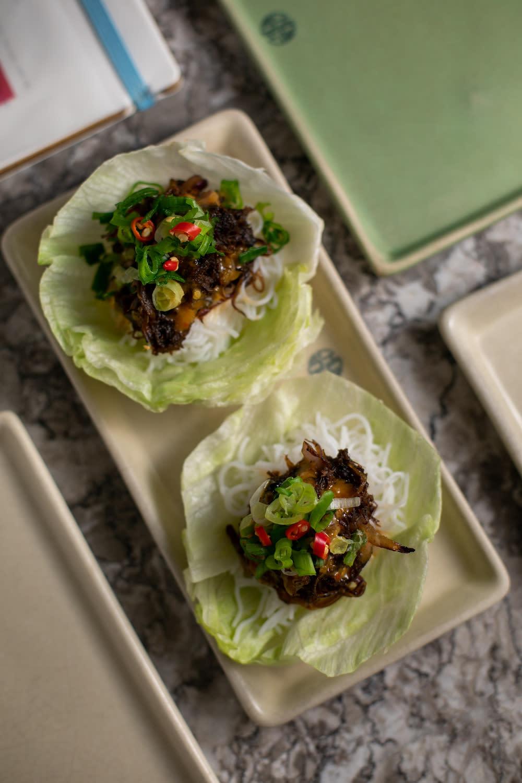 Chôm Chôm's short rib lettuce wraps