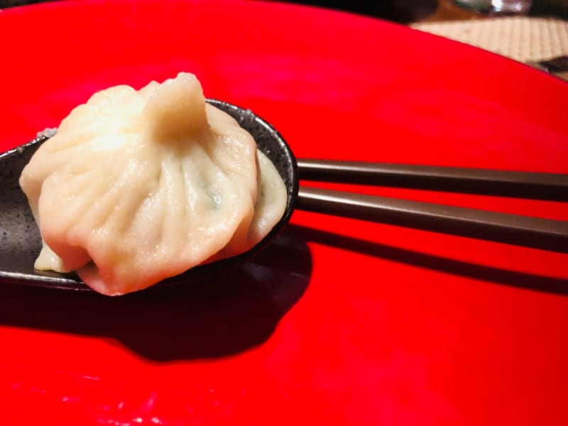 Vegan pork xiao long bao at North (The Venetian Macao)
