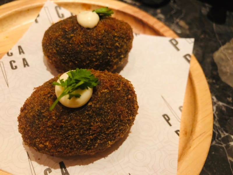 Squid croquettes at Pica Pica Hong Kong