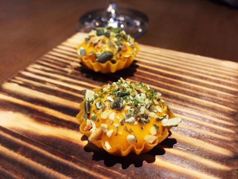 Pumpkin, nashi pear, bay leaf at Roganic Hong Kong