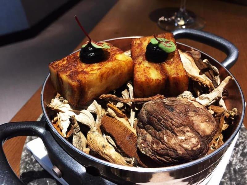 Truffle pudding at Roganic Hong Kong