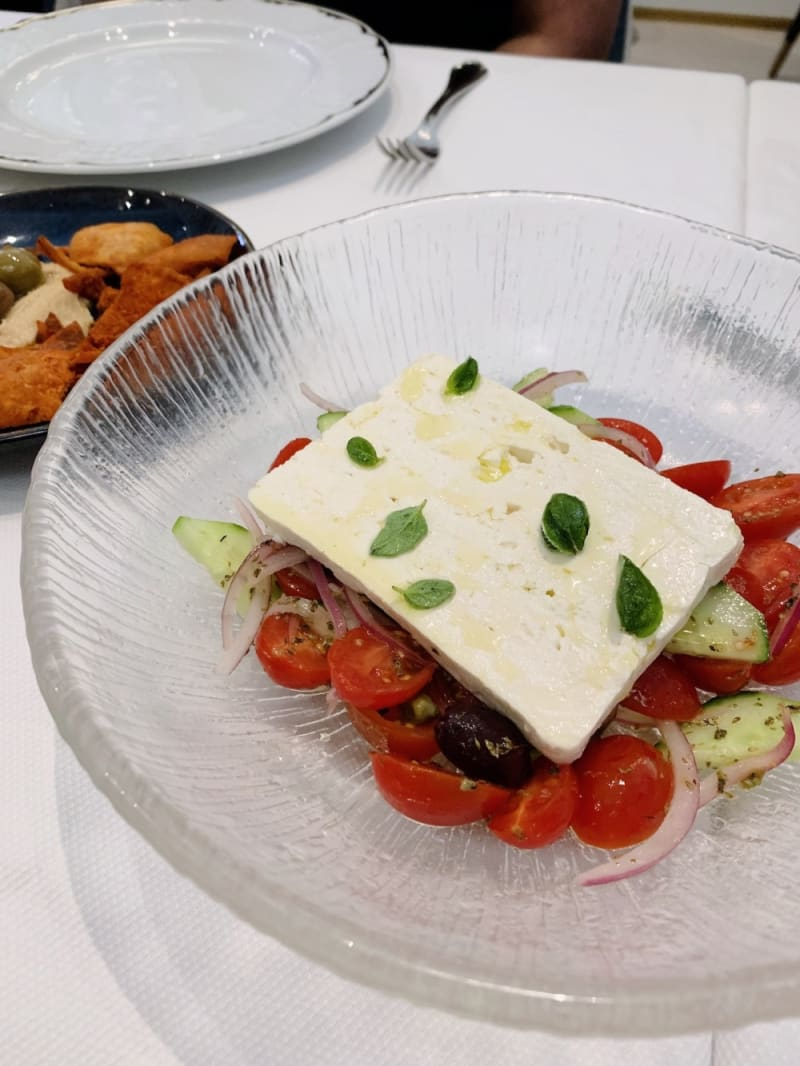 Greek salad at Estiatorio KEIA Hong Kong