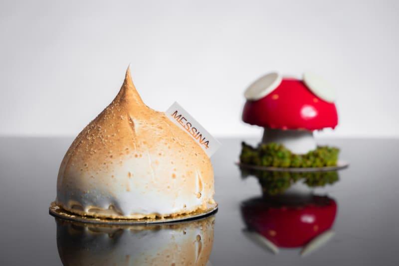 Image title Gelato Messina's Milk Tea Bomb Alaska and Dr Evil's Mini Magic Mushroom