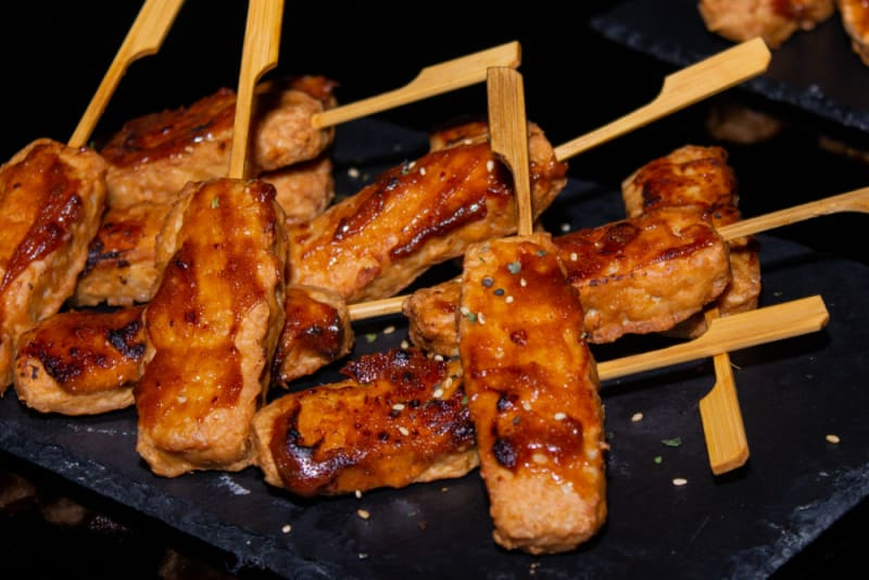 Chicken skewers at Club Nine