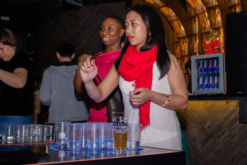 Beer pong at Club Nine Hong Kong