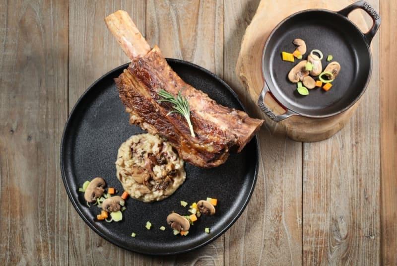 Beef short rib with Chianti mushroom risotto