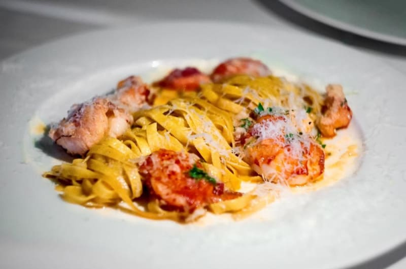 Canadian lobster tagliatelle at Mr Wolf