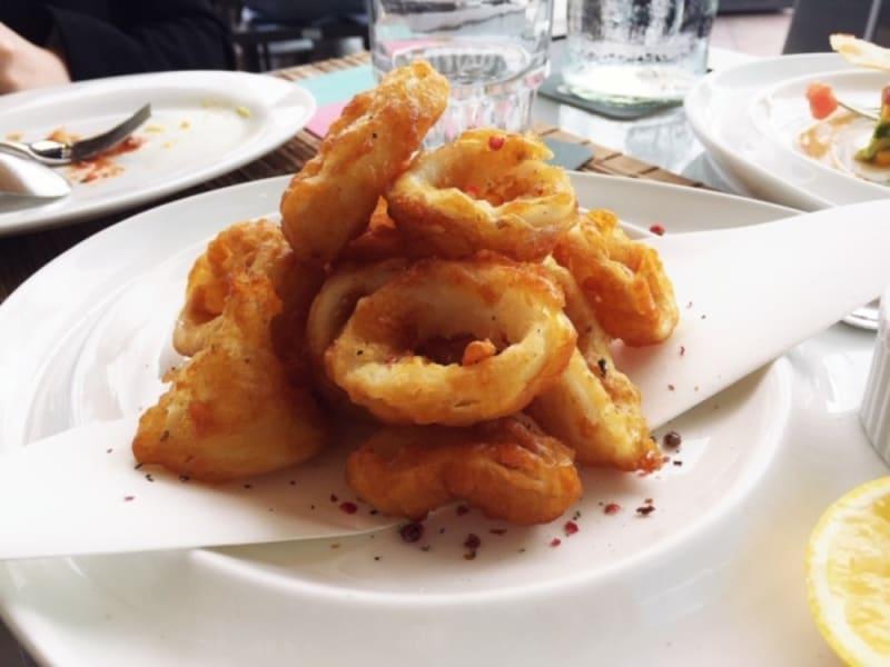 Fried calamari at Waterfront Bar & Terrace, Harbour Grand Kowloon Hong Kong