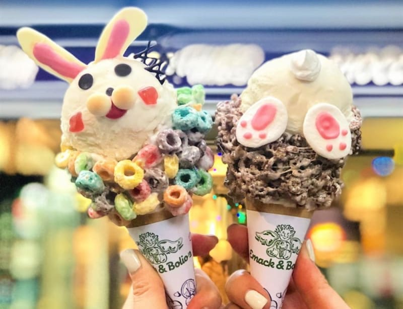 Emack & Bolio's bunny cones for Easter 2019 Hong Kong