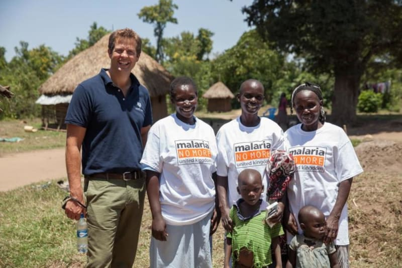 Fever-Tree Founder and CEO Tim Warrillow supporting the Malaria No More cause
