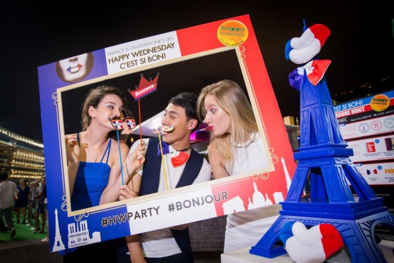 French Night at Happy Wednesday Hong Kong