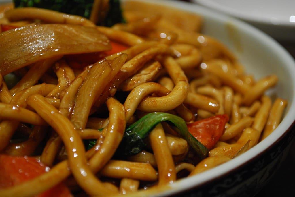 HK Style Soy Sauce Udon Noodles