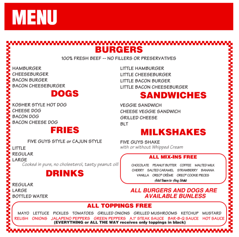 Five Guys Is Open In Hong Kong What S The Fuss All About