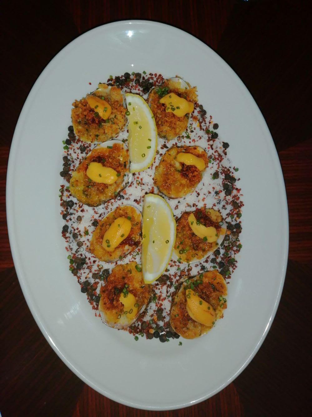Baked cherrystone clams