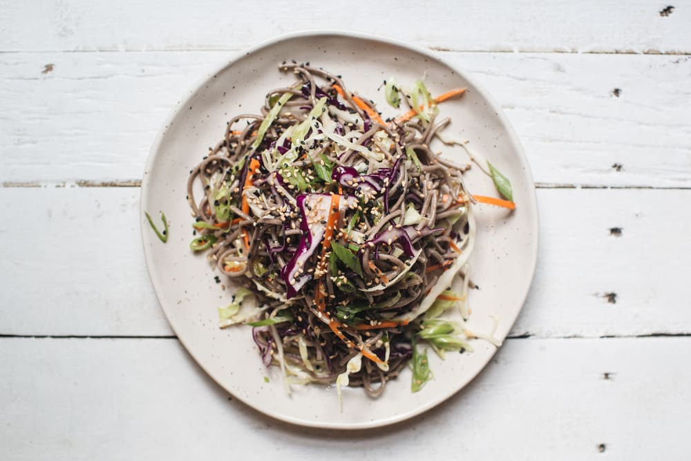 Soba noodle salad, VEDA Vegetarian Restaurant at Ovolo Central