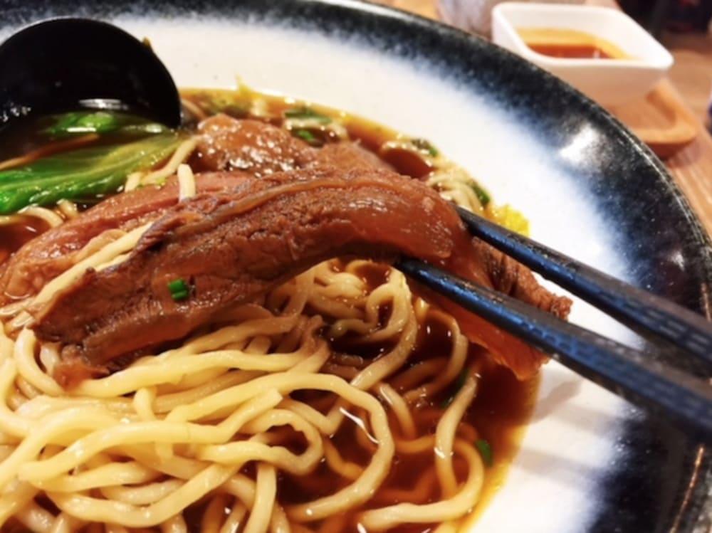 Taiwanese beef noodles at Iron Cow Hong Kong