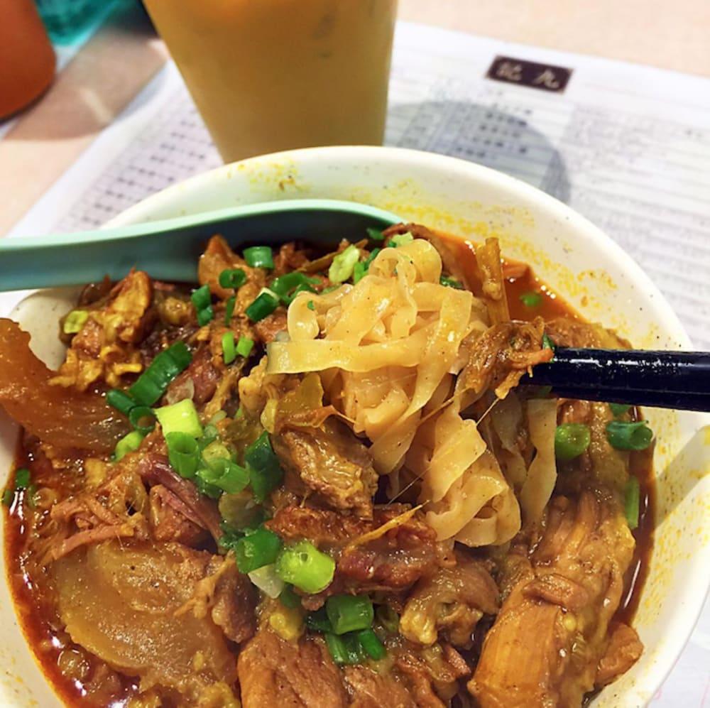 Curry beef brisket noodles at Kau Kee Hong Kong