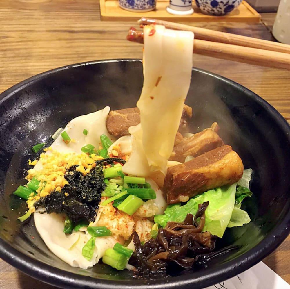 Shanxi noodles at 有緣小敍 (Yau Yuen Siu Tsui) Hong Kong