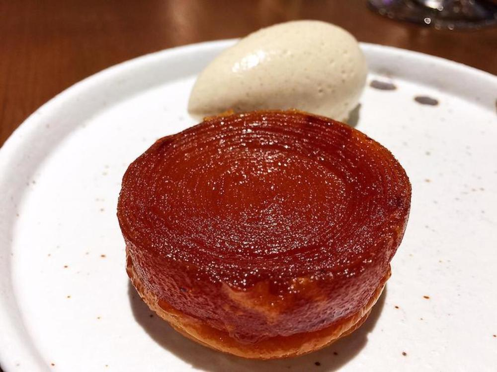 Caramelised apple at Roganic Hong Kong