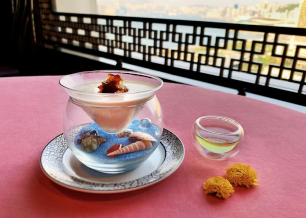 Chinese tea-pairing menu at Man Wah, Mandarin Oriental, Hong Kong