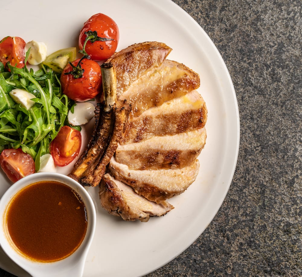Bungalow's grilled pork chop
