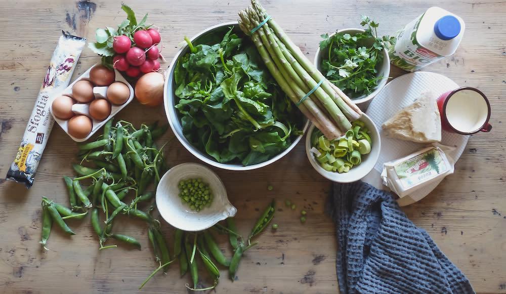 Mini Spring Vegetable Quiches