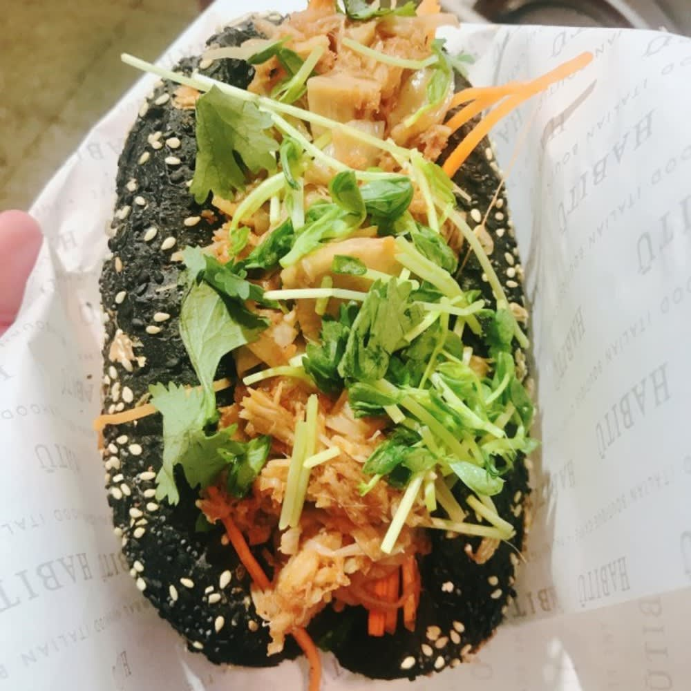 Jackfruit hot dog at HABITŪ Hong Kong