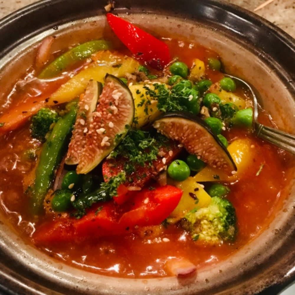 Vegetable tagine at Le Souk Hong Kong
