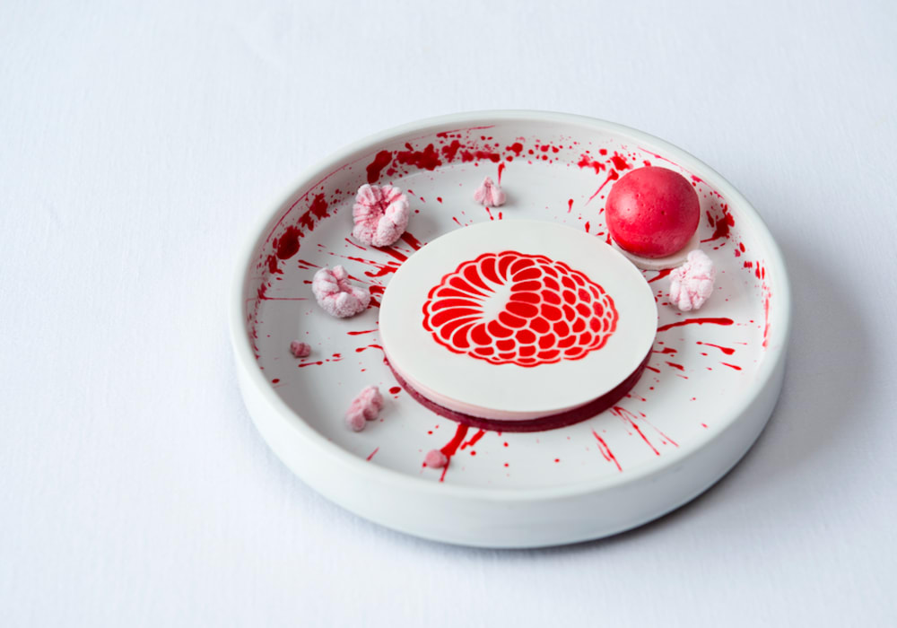 Chef Fabrizio Fiorani's raspberry dessert