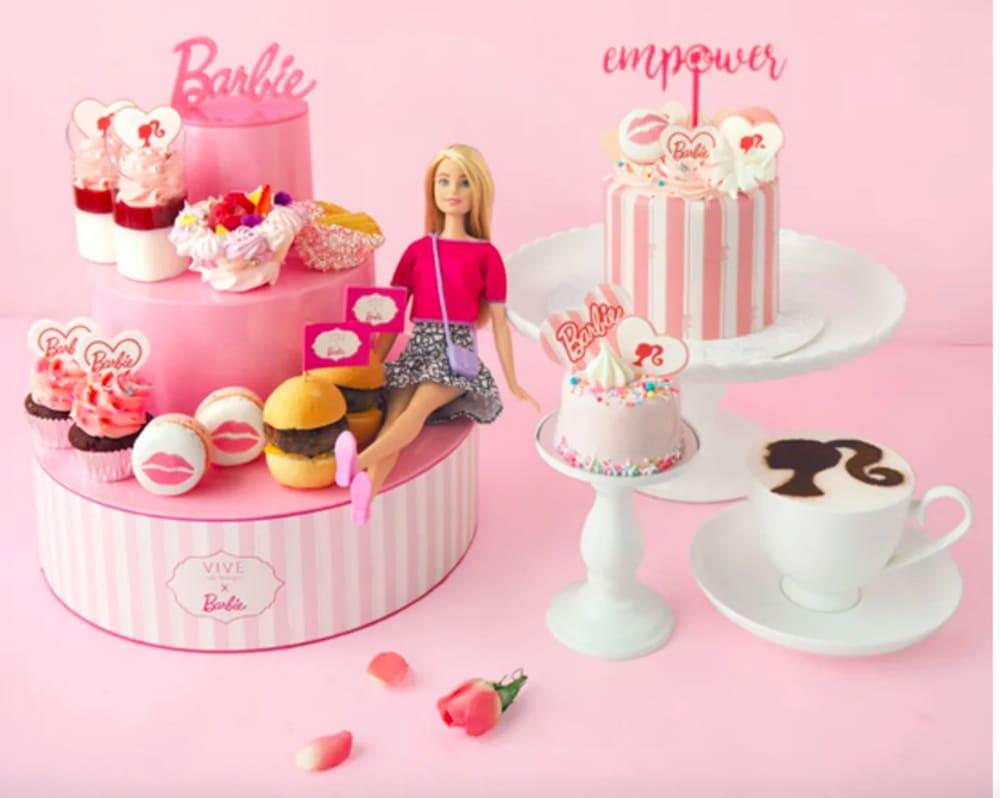 Barbie x Vive Cake Boutique Live Laugh Love Afternoon Tea