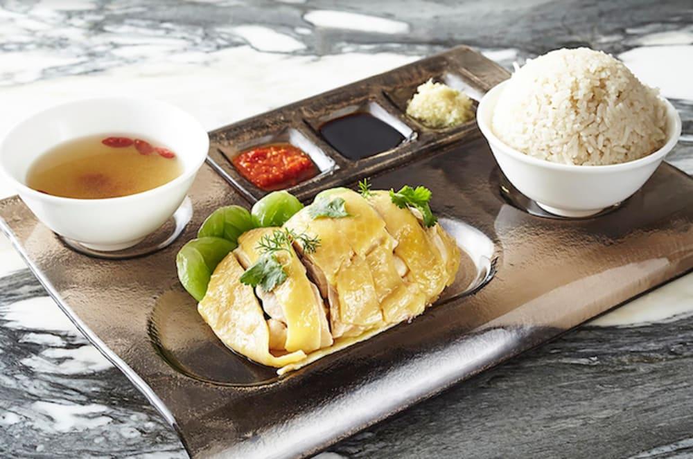 Café Causette, Mandarin Oriental, Hong Kong Hainan chicken rice