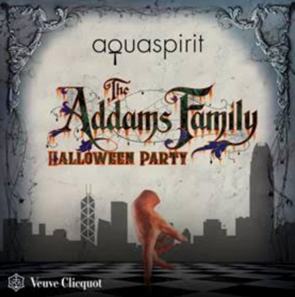 The Addams Family Halloween party at Aqua Spirit Hong Kong