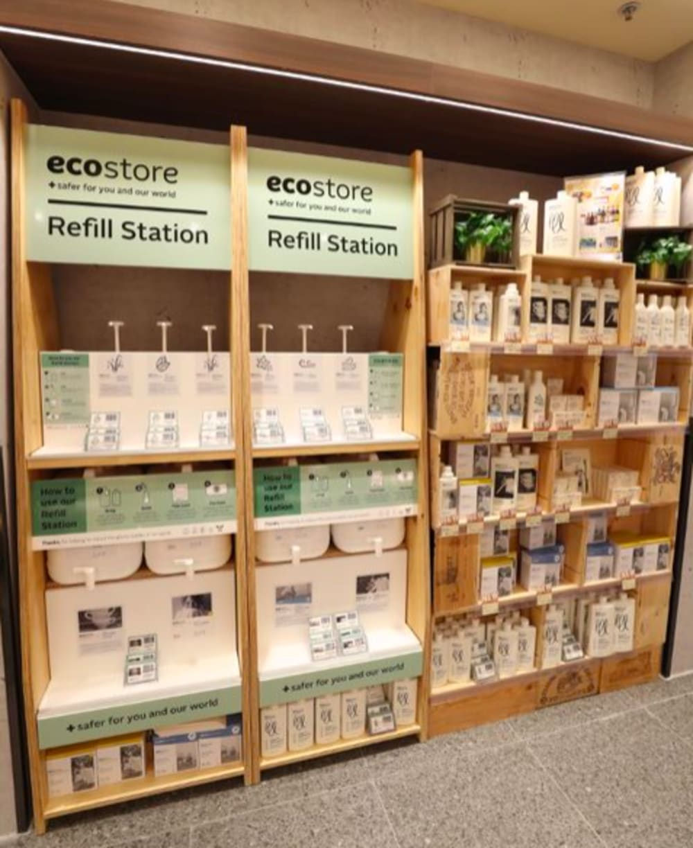 ecostore refill station at GREAT Food Hall Hong Kong