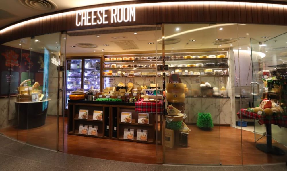 Cheese room at GREAT Food Hall Hong Kong