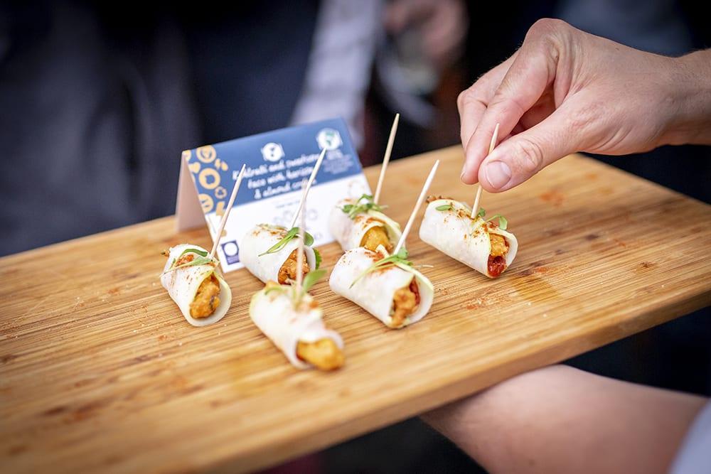 The Sustainable Restaurant Award celebration canapés